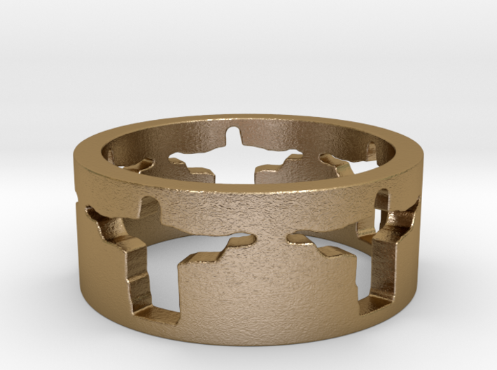 Cristo band Ring Size 9 3d printed