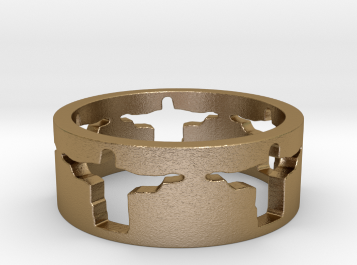 Cristo band Ring Size 11.5 3d printed