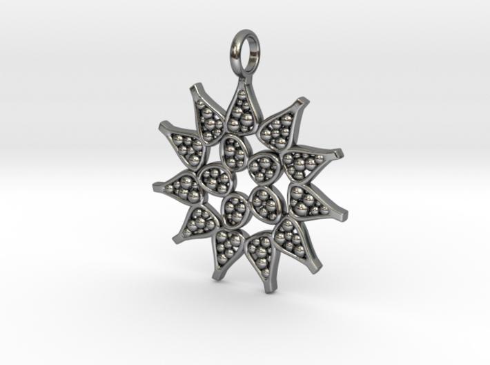 Pediastrum Algae pendant - Science Jewelry 3d printed