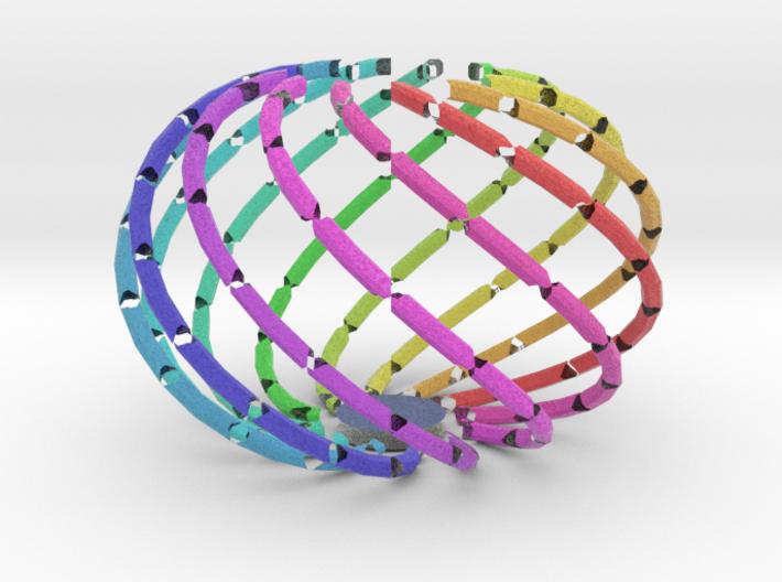 Bowl - Colorful Spectrum in Full Color Sandstone 3d printed