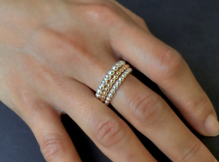 """Stackable """"Bubbles"""" Ring 3d printed"""