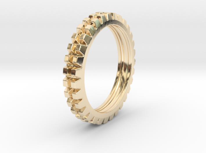 "Stackable ""Deux"" Ring 3d printed"