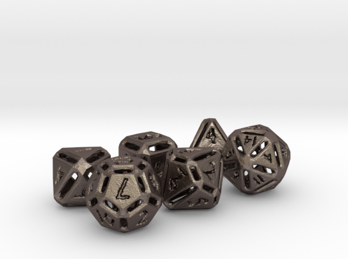 Rough Poly Dice Set NO D00 3d printed
