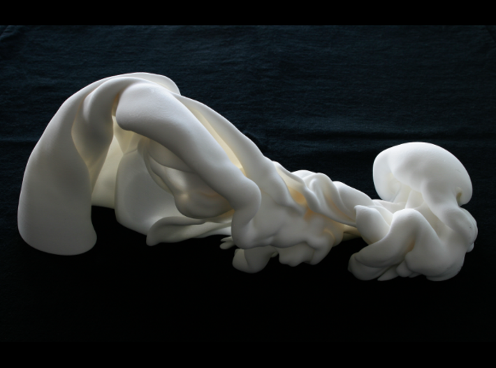 Triple Fluid Collision, 1/50 3d printed Photo of final piece, full-sized