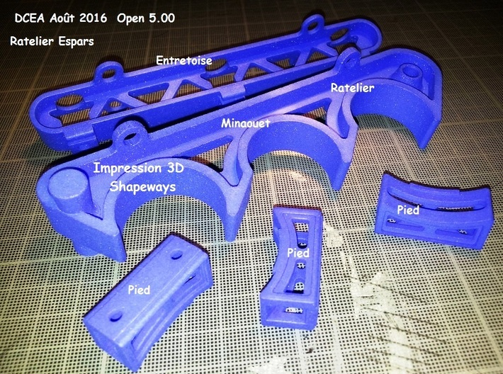 Open 5.00 Support Esparts Ratelier. 3d printed