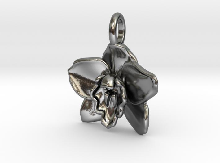 Cymbidium Boat Orchid Pendant 3d printed