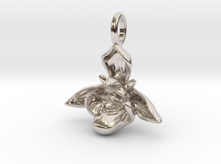 Bee Orchid Pendant - Nature Jewelry 3d printed