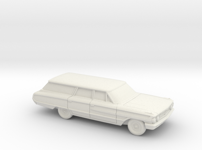 1/87 1964 Ford Country Squire Station Wagon 3d printed