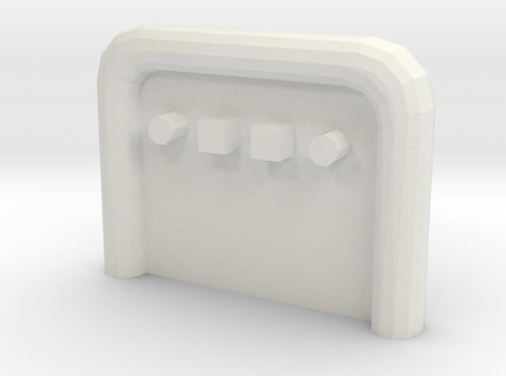 Anschlussplatte Zugmaschine (Variante 1) 3d printed
