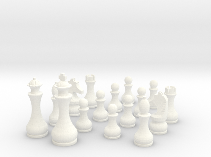 Pomo Standard Chess Set 3d printed