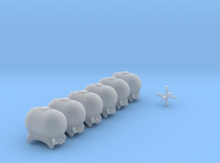 SET 6x Edzkr 571 Behälter (FLM/MTX) (N 1:160) 3d printed
