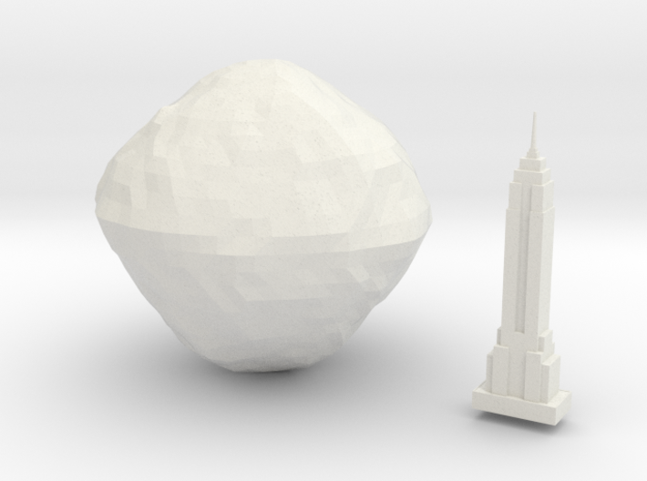 101955 Bennu & Empire State Building 3d printed