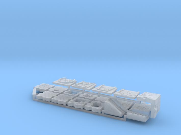 15mm Sci-Fi Corridor System 3d printed