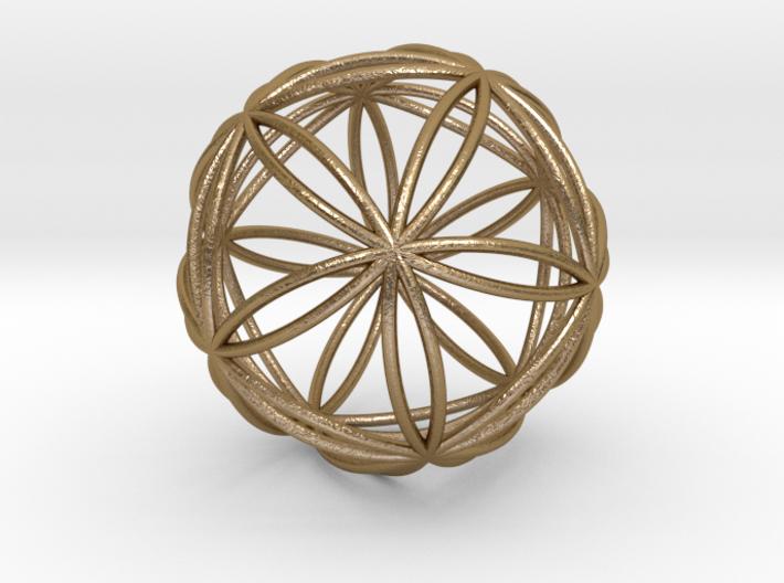 """Icosasphere 1.8"""" 3d printed"""