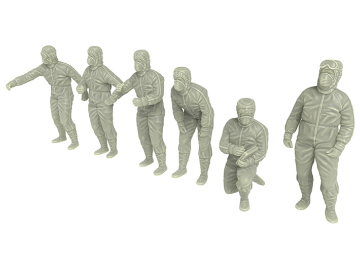 CLEAN ROOM WORKER SIXPACK 3d printed