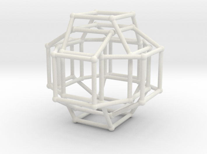 Cayley Graph of the 1x2x3 (cube) 3d printed