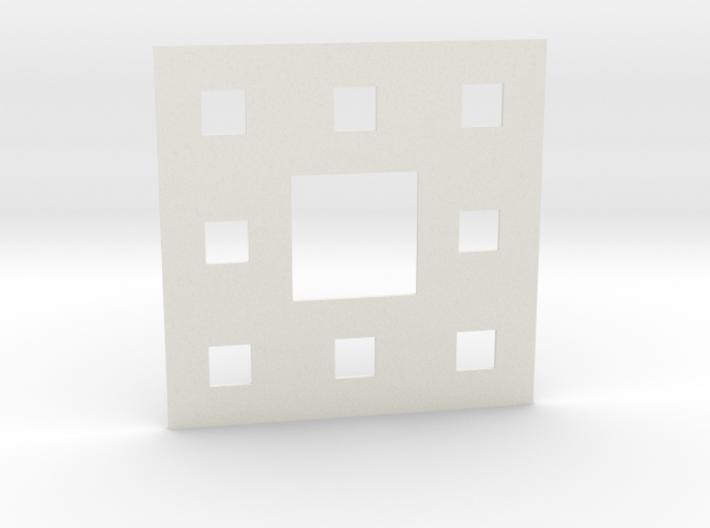Sierpinski carpet Level 2 3d printed