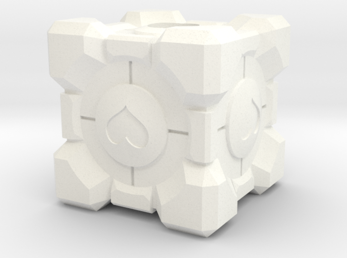 Companion Cube Lanyard Bead 3d printed