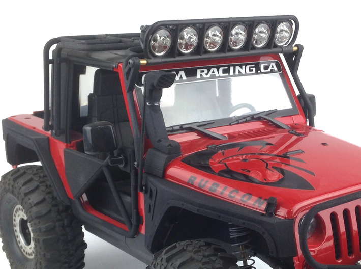 CJ10004 Snorkel solid Nylon - BLACK 3d printed Shown detailed with a chrome strip and mounted (vehicle and chrome detail sticker sold separately)