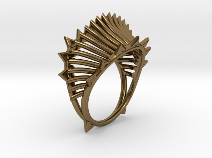 Ring The Iroquois 2\knuckle/size 8US (18,3mm) 3d printed