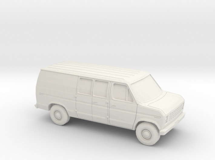 1/43 1975-91 Ford E-Series Delivery Van 3d printed