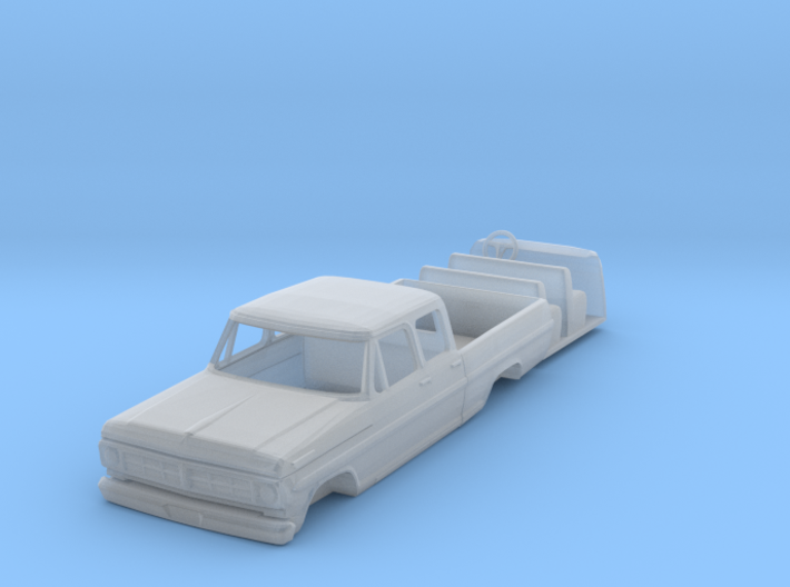 1/87 1967 Ford Crew Cab with Interior 3d printed