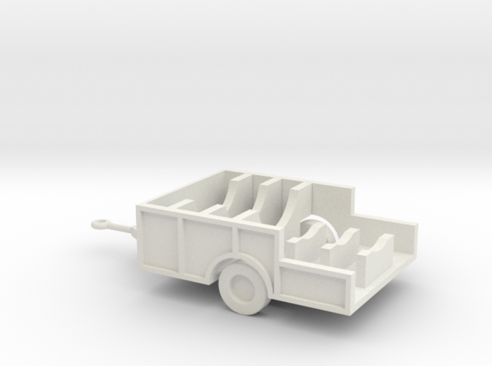 1/144 Scale M480 Aft Missile Trailer 3d printed