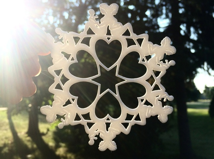 Mothers Snowflake Ornament 3d printed a thoughtful gift for any mother you lean on for support
