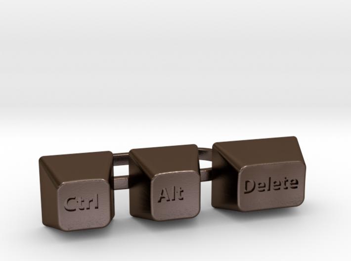 Ctrl+Alt+Del Statement Ring 3d printed