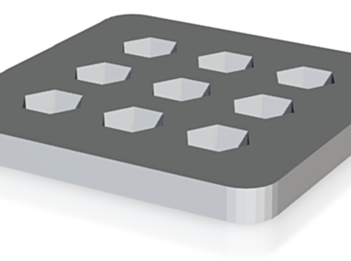 Hexagon Ice Tray 3d printed