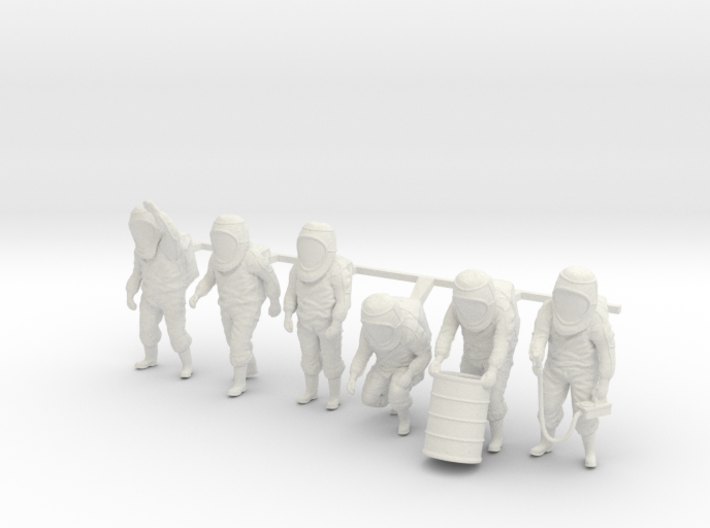 Hazmat Suit Sixpack 3d printed