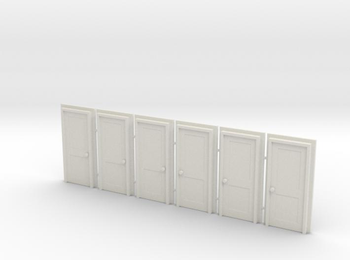 Door Type 4 - 810 X 2000 X 6 - OO Scale 3d printed