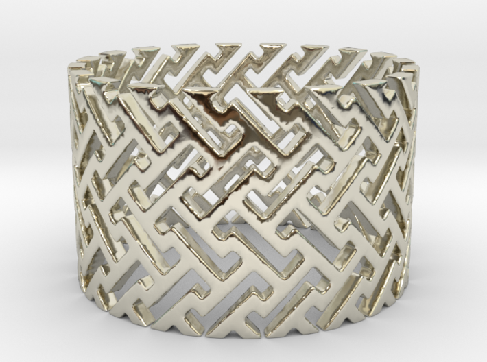 Woven Ring (Size 4-11) 3d printed Woven Ring is shining spectacularly.