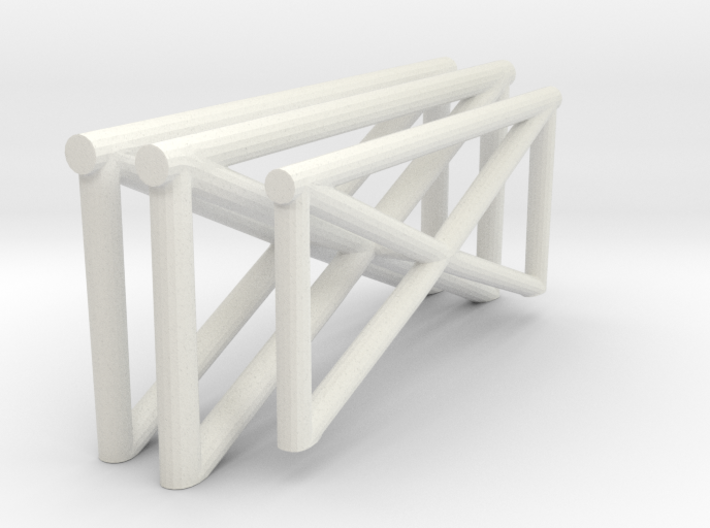 1/72 Catapult Railing 3d printed