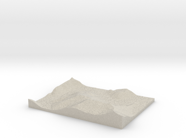 Model of Trace Creek 3d printed