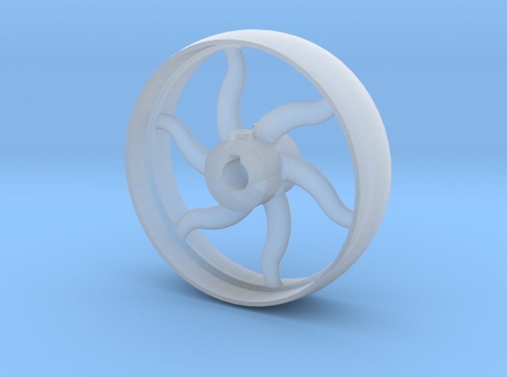 Curved Spoke Pulley Gauge 1 3d printed
