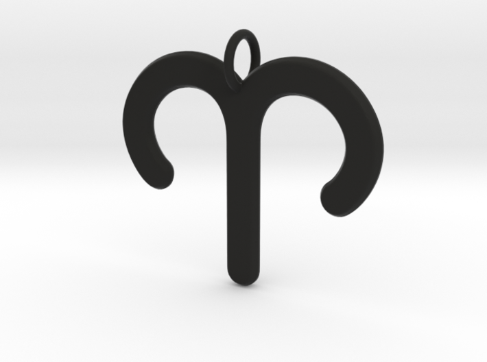 Aries Zodiac Star Sign Necklace Pendant 3d printed