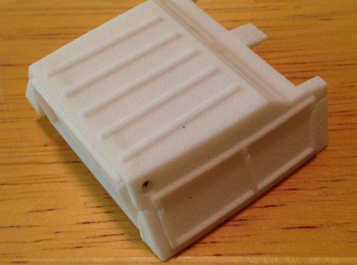 Trunk Fill Assembly - Shield Type 3d printed Assembly detail view, unpainted