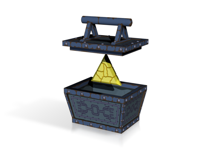"""WW"" Treasure Chest (Sea) 3d printed"