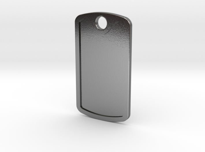 Dogtag Template 3d printed