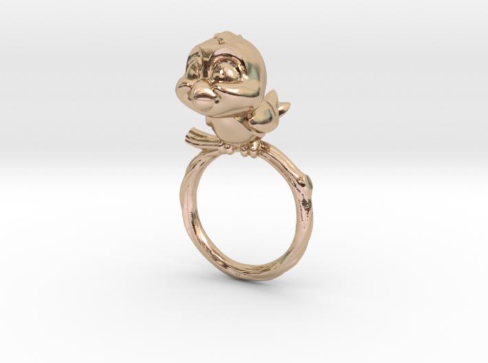 Bird Pet Ring - 17.35mm - US Size 7 3d printed