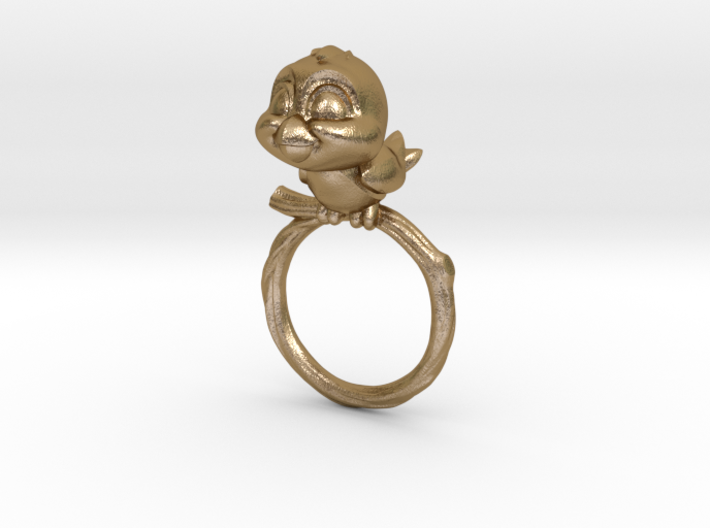 Bird Pet Ring - 18.19mm - US Size 8 3d printed