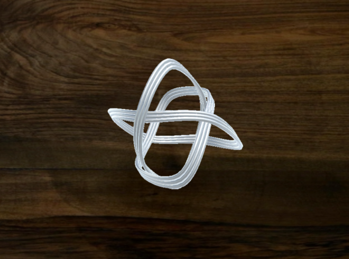 Turk's Head Knot Ring 3 Part X 3 Bight - Size 12 3d printed