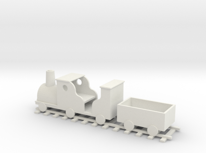 Train Planter - OO Scale 3d printed