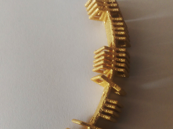Jasmine Ogham Pendant 3d printed