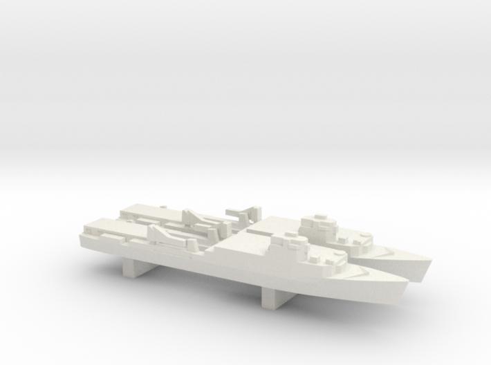 Ouragan-class LPD x 2, 1/3000 3d printed