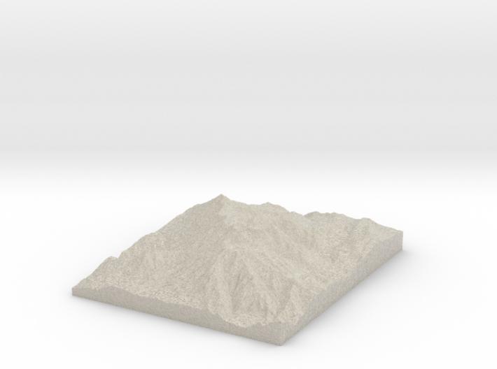Model of Emerald Lake Shelter 3d printed