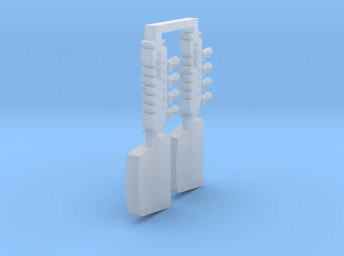 Avia B.534 liquid cooler, holder for open shutters 3d printed