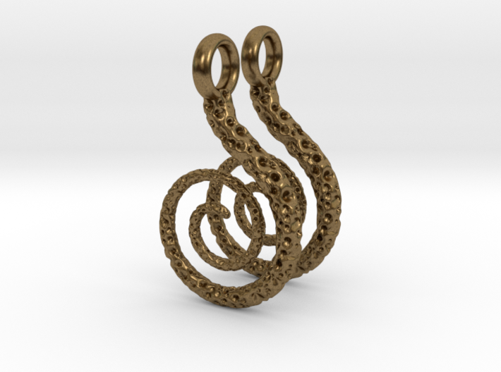 Spiral Earrings Textured 3d printed