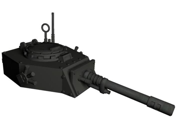28mm APC turret with autocannon 3d printed assemble like on this picture